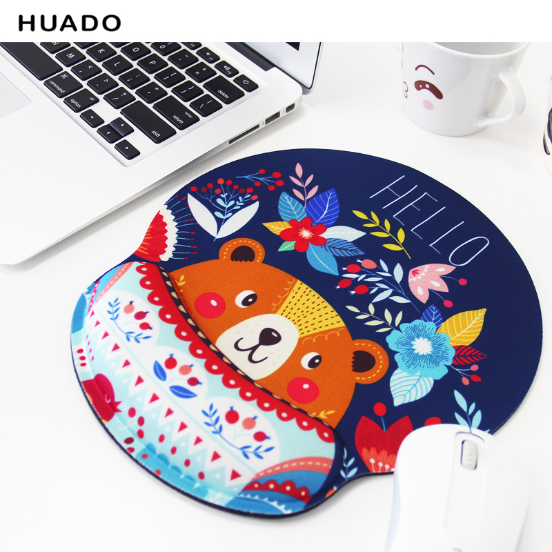 Mouse Pads 3D With Wrist Rest Support natural rubber Mouse Pad Anti-slip Hand Pillow Memory Cotton Gaming Mouse Pad Mat 001 memory cotton mouse pad green black