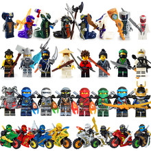 MOC Ninja Model Building Block Figures Sharkman Garmadon Master Wu Gifts Ninjago Cole Jay Kai Zane Nya Lloy LegoINGlys Brick Toy(China)