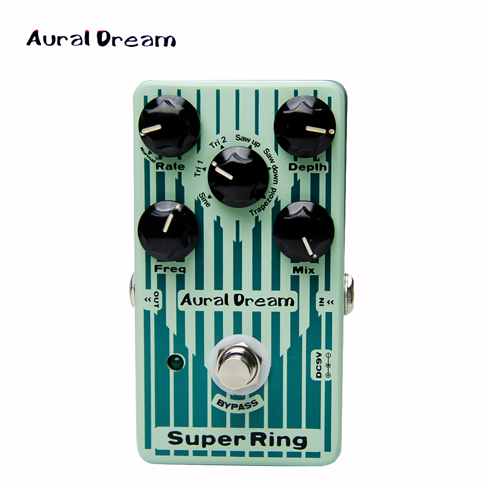 Aural Dream Digital Effect Pedal Digital Five knobs of Super Ring guitar pedal aural dream super flanger digital pedal with 18 flanger effects guitar pedal