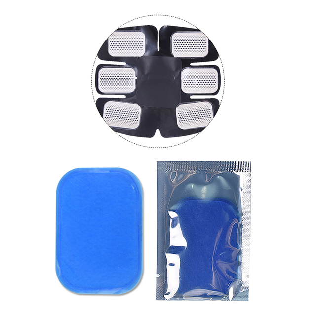 10Pair=20Pcs Hydrogel Gel Sticker Electrode Pads for EMS Abdominal Trainer Massager Electric ABS Muscle Training Stimulator
