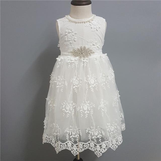 2017 weißes Formales Kleid für Mädchen Prinzessin Sleeveless Kinder ...