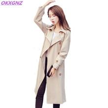 OKXGNZ 2017 Spring New Lady Coat Korean Version Fashion Long Jacket Solid Color Women s Basic