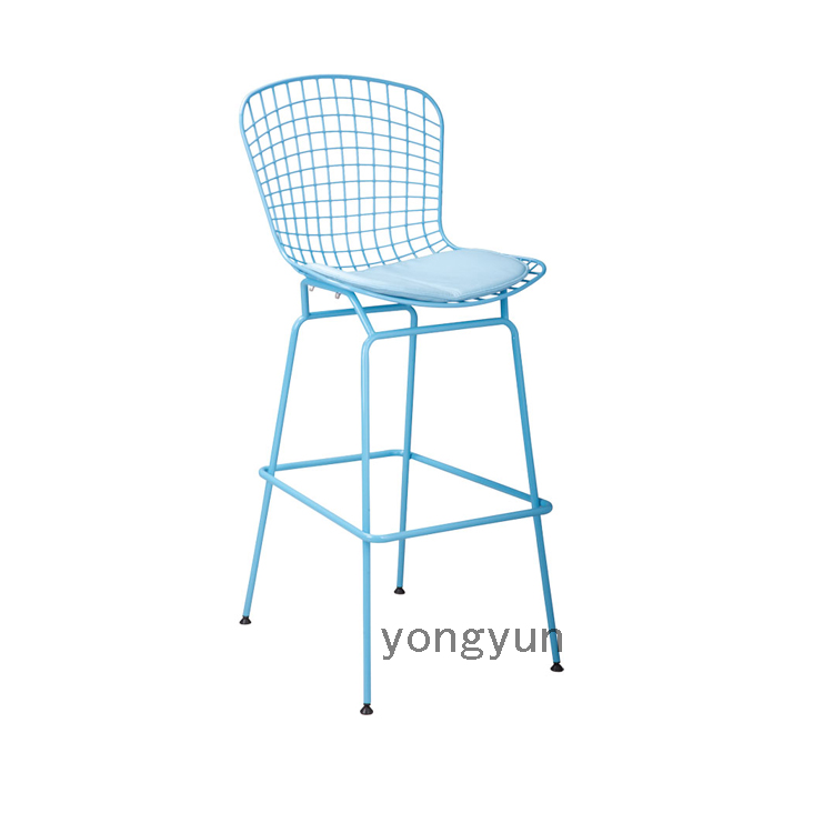replica bertoia bar stool unupholstered,wire counter stool powder coated  steel shell and PU cushion - Counter Stool Cushions Promotion-Shop For Promotional Counter