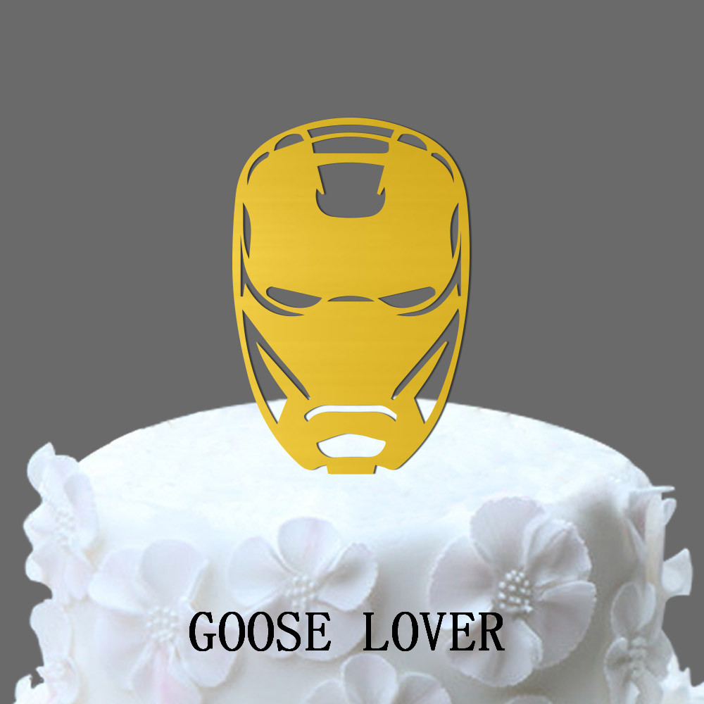 Ironman Wedding Cake Topper With Silhouette, Funny Cake Topper ...
