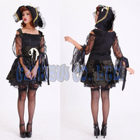 Women Adult Sexy Queen Of Witch Black Ladies Lace Fancy Dress Halloween For Women Cosplay Costume