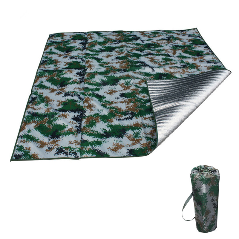 Camping Mat Waterproof Awning Ultra Light Outdoor Camouflage Rain Camping Sun Protection Awning Tent Waterproof Blanket