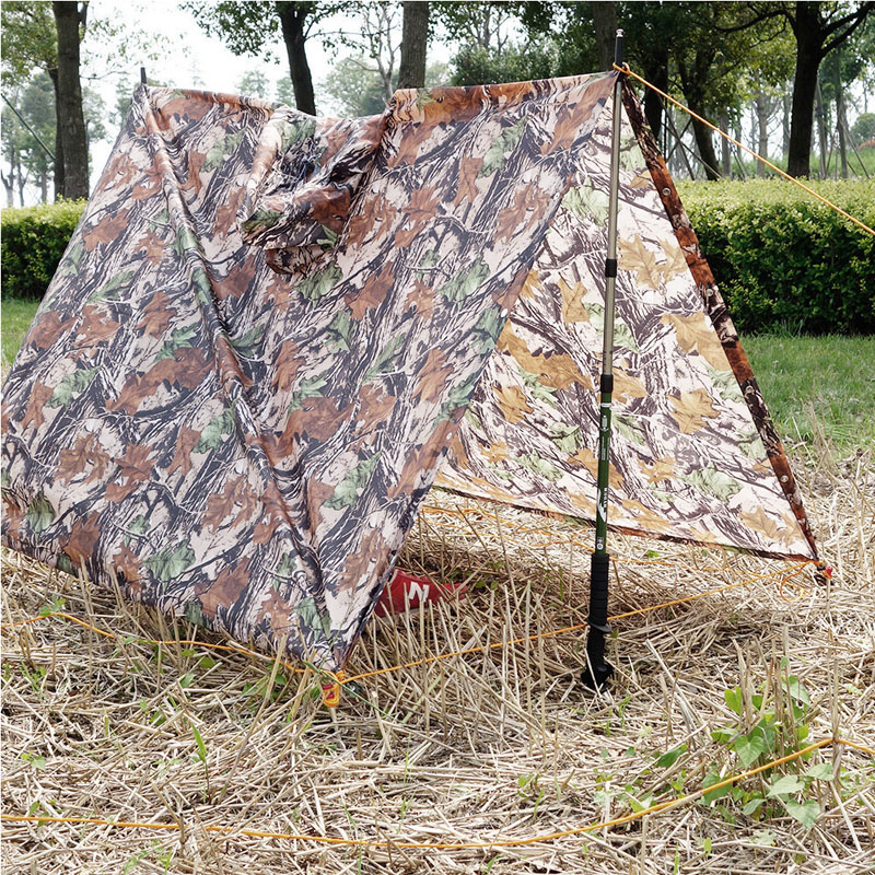 3 in 1 Multifunctional Jungle Military CamouflageTent Mat Pad Awning Rain coat