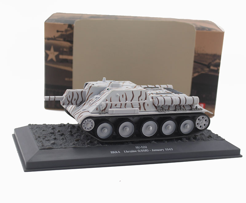 цена на 1/43 SU-122 self propelled tank destroyer model of World War II alloy tank Collection model
