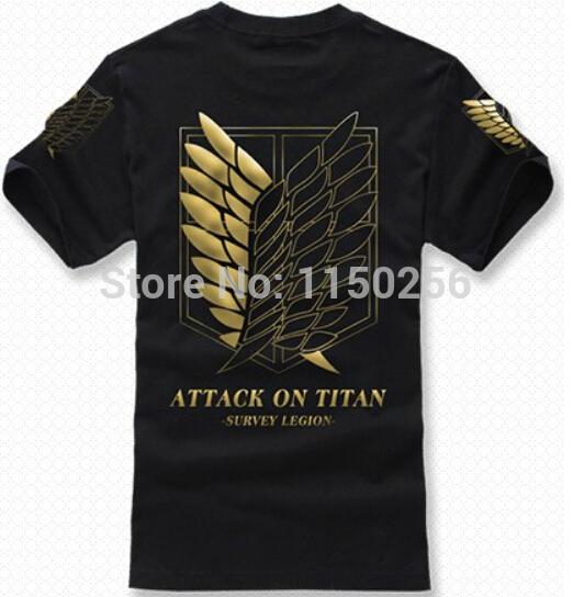 Anime Attack on Titan Anime Cosplay Costume T-Shirt 100% Cotton