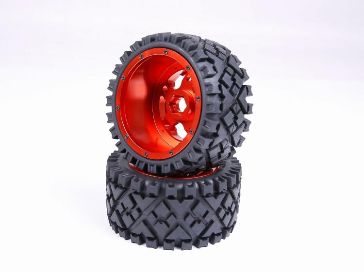1/5 RC baja parts Rovan rc car parts Strong 5B baja Rear full Terrain tyres set with CNC ALLOY  Wheels hubs 170X80 baja 5b off road rear tyres for 1 5 gas rc car hpi baja 5b parts rovan km
