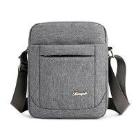Solid Flap Bag College style Nylon Messenger Bag for Men Contracted Joker Crossbody Bag Lightweight Practical Shoulder Bag 1