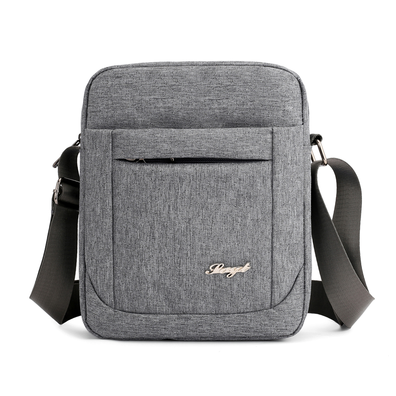 Solid Flap Bag College Style Nylon Messenger Bag For Men Contracted Joker Crossbody Bag Lightweight Practical Shoulder Bag