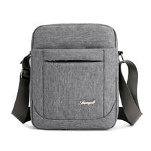 Solid Flap Bag College style Nylon Messenger Bag for