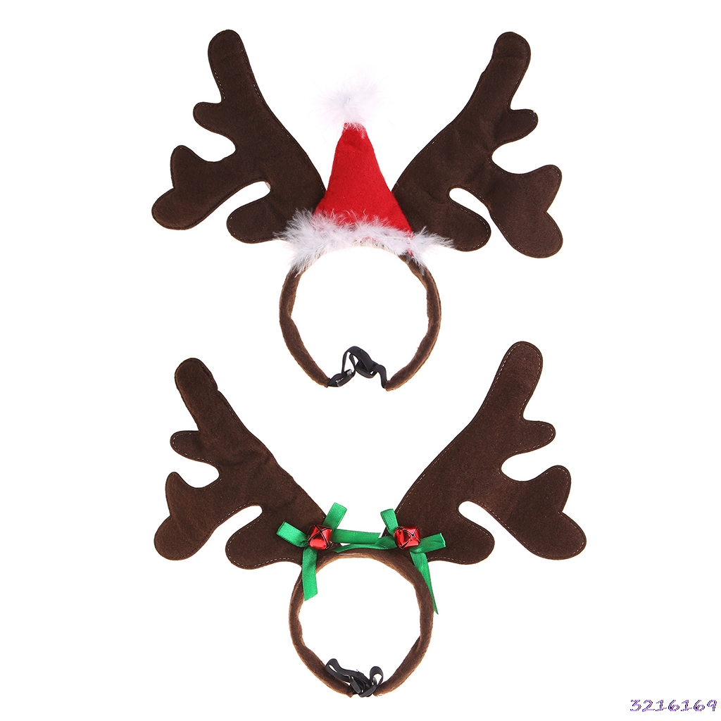 Christmas Pet Headband Deer Horn Hat Costume Dog Puppy Cat Dog Cosplay Party Product