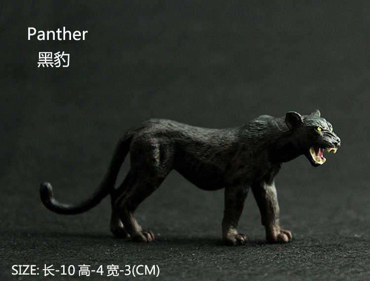 สัตว์ชุดเด็กจำลองสวนสัตว์ Black Panther ของเล่นสัตว์ป่า Black Panther เด็กห้องนอนตกแต่งงานฝีมือ