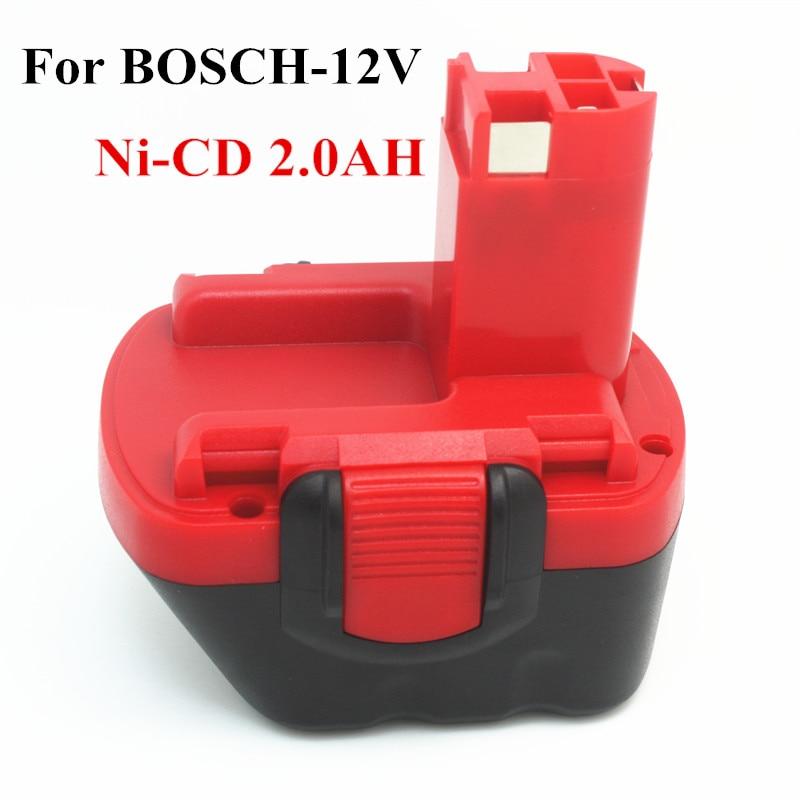 Pour BOSCH 12 V 2.0AH Remplacement outil batterie Pour BOSCH GSR AHS GSB GSR PSR 12 12VE BAT043 BAT045 BAT046 BAT049 BAT139 2607335273