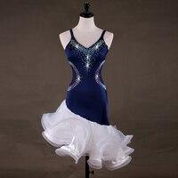 High Quality Latin Dress For Women Rhinestone Salsa Samba Rumba Competition Dress Cha Cha Tango Performance Dancing Wear DC2490