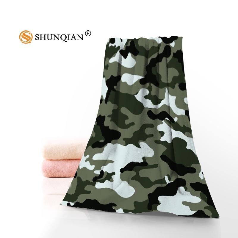 Camo fond serviettes microfibre serviettes de bain voyage, plage, serviette de visage personnalisé créatif serviette taille 35X75 cm et 70X140 cm A8.8