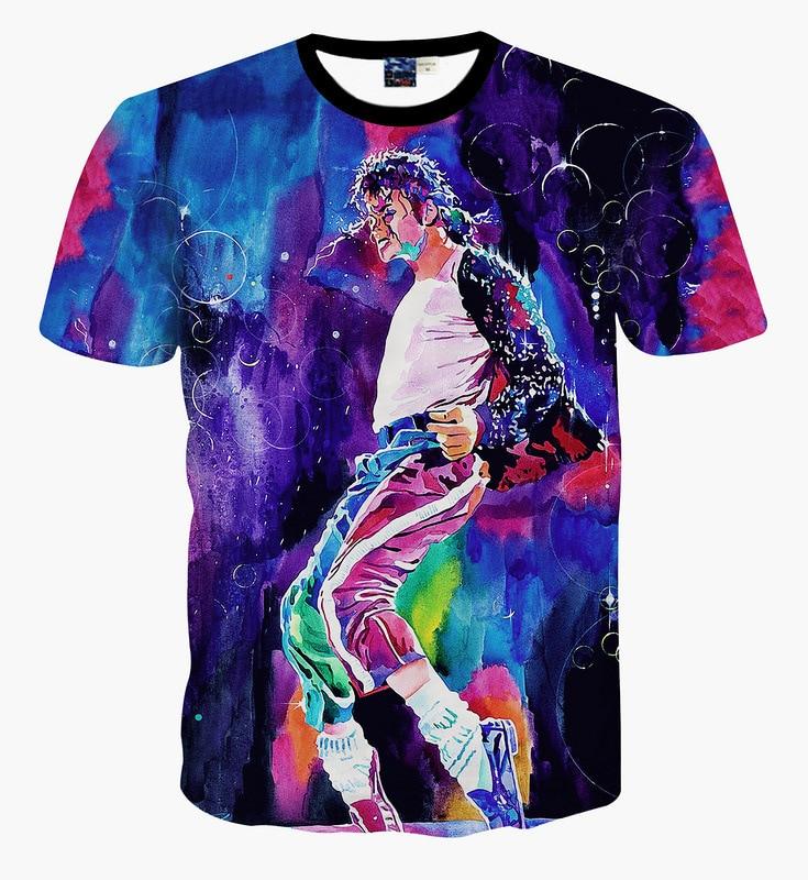 Tshirt Tops Singer Boys/girls Summer New Cool Michael Jackson Print Streetwear Hip-Hop