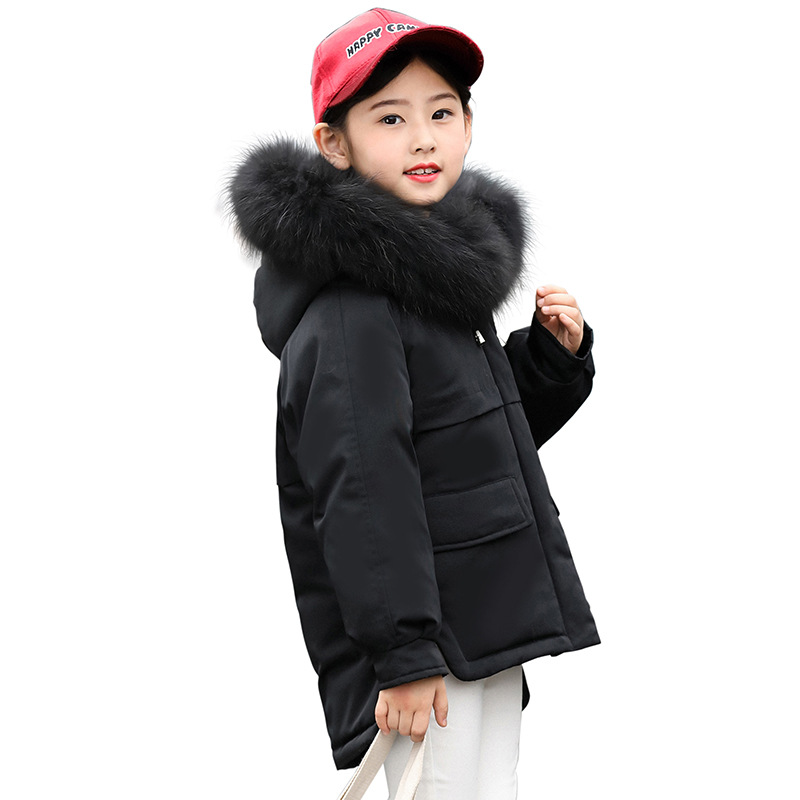 2018 New Girl Winter Coat Cotton-padded Children Winter Jacket Kids Warm Thick Hooded Outwear For Teenage girl winter coat 2017 flannel lining larger hooded warm padded cotton kids jacket suitable for extremely cold weather