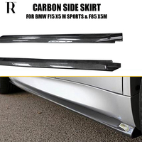 X5 3D Styling Carbon Fiber Side Bumper Skirt for BMW F15 X5 with M Package F85 X5M Auto Racing Car Styling Side Skirts Bodykit