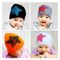 Chapéu do bebê Crianças Tampas Outono Inverno Meninos Chapéu Uma Estrela Impressão Crianças Infantis Do Bebê Chapéus Criança Gorros Acessórios Do Bebê Traje