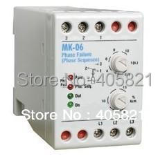 MK-06 Phase Failure Relay ,the protection from the phase failure,phase sequence ,voltage unbalance gkr 02 voltage monitoring device relay gkr 02 phase failure and phase sequence protection relay for motor protection