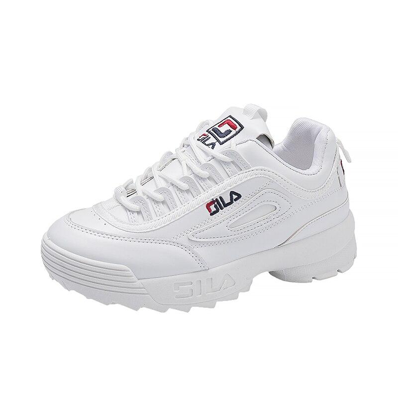 נשים של לגפר נעלי לבן מותג ליידי מקרית רטרו פלטפורמת Sneaker עבה סוליות דירות צלב-קשור תחרה עד רך chaussure