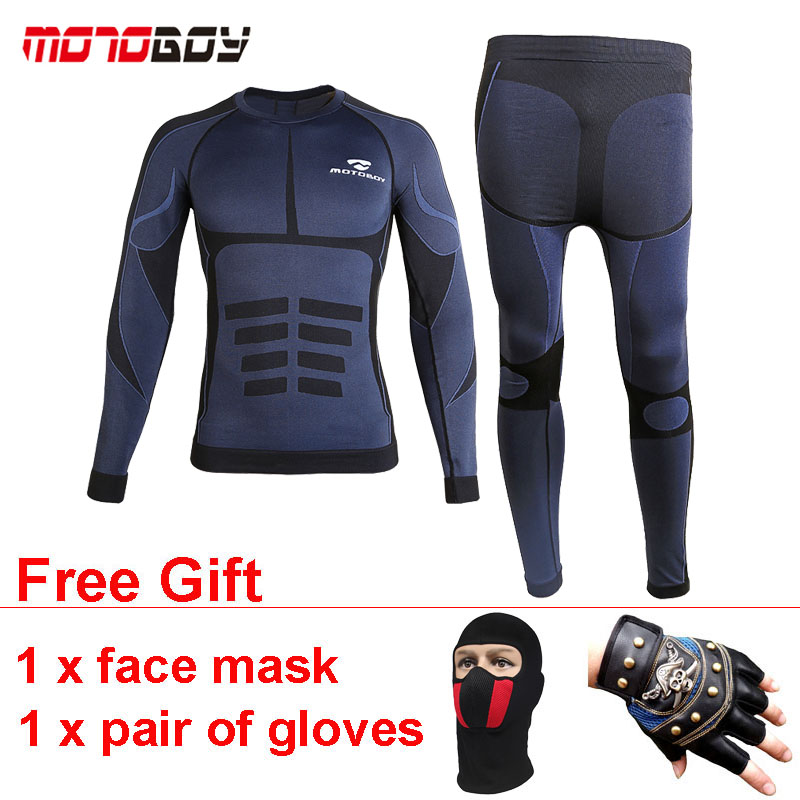 MOTOBOY Motorcycle Underwear Men Elastic Breathable Summer Sport Suit Warm Winter Tops Pants Trousers for Racing Riding Cycling стоимость