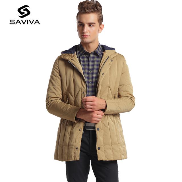 2016 Novos Quentes Dos Homens Longo Para Baixo Casaco de Capuz Para Baixo À Prova D' Água jaqueta Leve Marca de Moda Para Baixo Homens Jaqueta de Inverno Da Marca de Grande tamanho