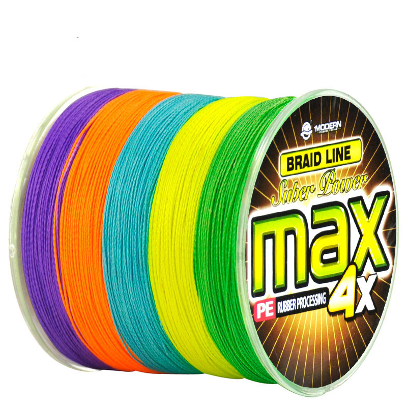 Modern Fishing Accessories 300M 500M 1000M PE Fishing Line 4 Strands 8 to 90LB Multifilament Fishing Rope 10 Meters 1Color