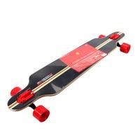Ferrari long board one metter double rocker skateboard Adult Four Wheel Skateboard deck Single Snubby Maple Skateboard FBW15