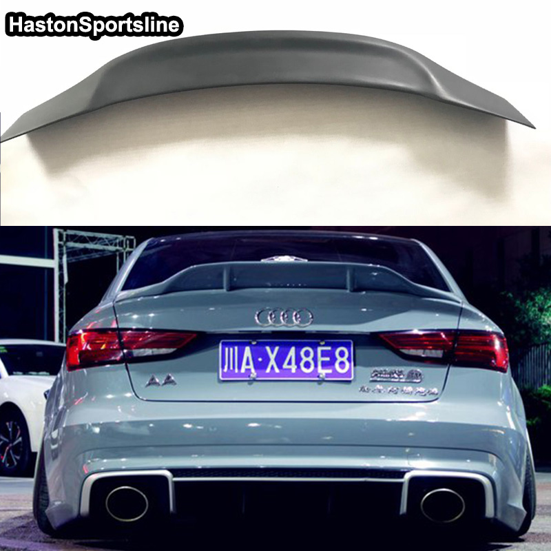 A3 Renntech Style FRP Unpainted Primer Auto Car Rear Trunk Spoiler Wing for Audi A3 Sedan