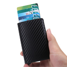 Wholesale Credit Card Holder Automatic Pop Up Id Aluminum Wallet PU Leather Anti-theft Case