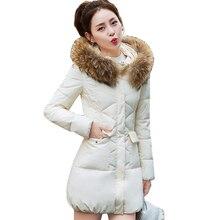 a24735e427ac Для женщин парки толстые зимние пальто 2018 Новая мода меховой воротник  верхняя одежда с капюшоном SlimPlus