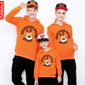 2016 Autumn And spring Christmas deer Hoodies with hat Family Matching Outfits mother son daughter father clothes