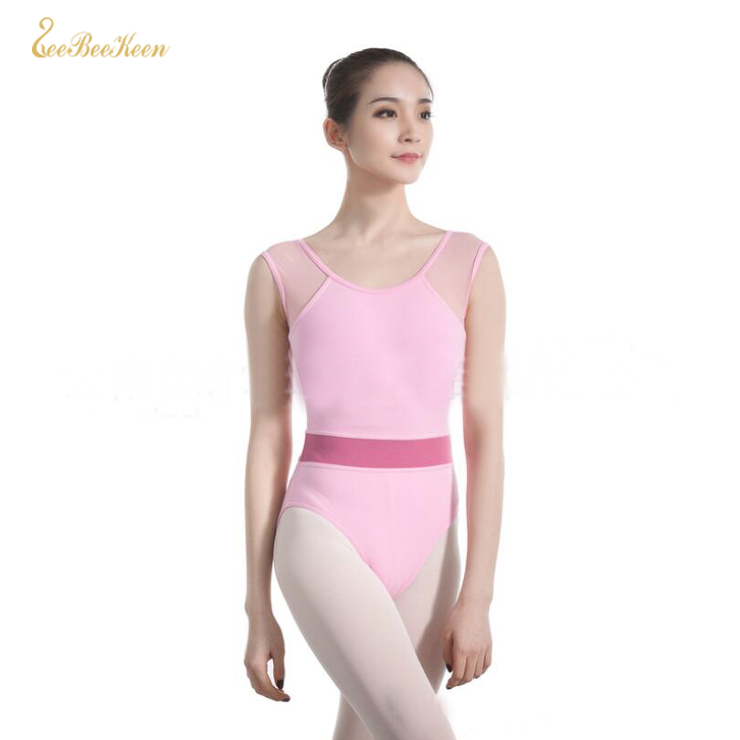 Black/Pink Gymnastics Leotard Ballet Leotards For Women Ballet Leotard Adult Short Sleeve Ballet Dancing Costume Dance Clothes
