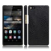 Huawei ALE-L21 ALE L21 Case Quality PC Crocodile Grain Back Cover Hard Case for Huawei ALE-L21 Ascend P8 Lite P8Mini ALE L21 m215hge l21