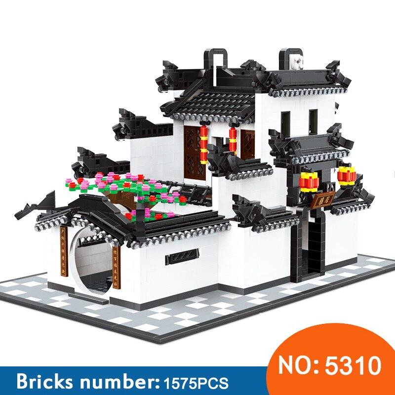 WANGE 5310 5311 ビルディングブロック中国 HUI STYLE アーキテクチャ 1575 ピース DIY レンガ教育おかしい子供のおもちゃ  グループ上の おもちゃ & ホビー からの ブロック の中 1