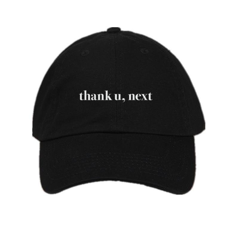 Dropshipping Letter Thank U,Next Baseball Caps Ariana Grande Embroidery Dad Hat Unisex Women Man Hats Latest album Snapback