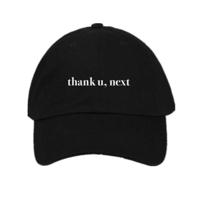 Dropshipping carta gracias U, siguientes gorras de béisbol Ariana Grande bordado papá sombrero Unisex mujeres hombre sombreros último álbum Snapback
