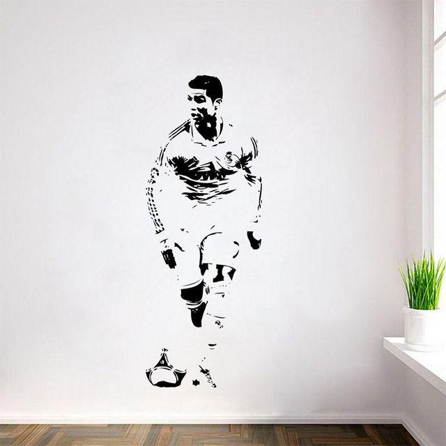 Free Shipping CRISTIANO RONALDO Wall Decal Sticker CR7 Footballer Soccer  Wall Art Decor