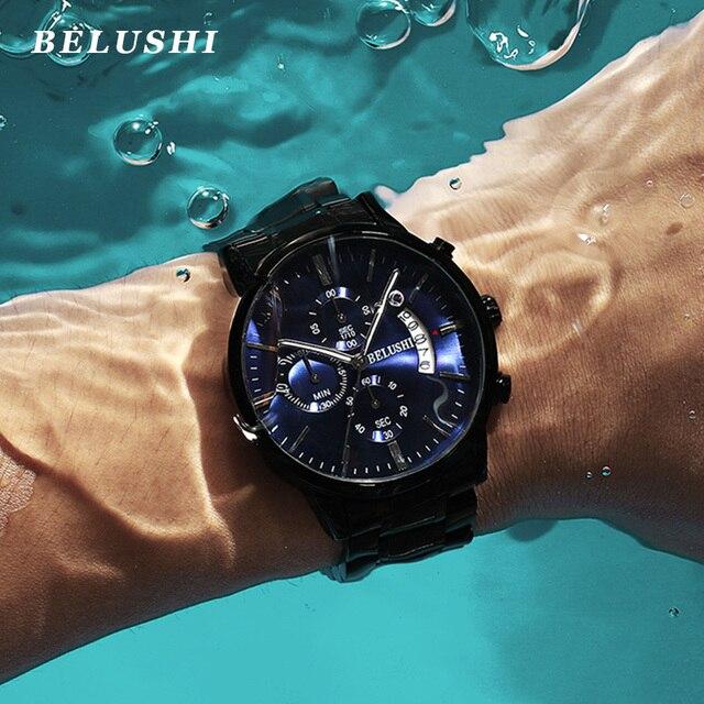 Men's watch luxury brand BELUSHI high-end man business casual watches male waterproof sports quartz wristwatch relogio masculino