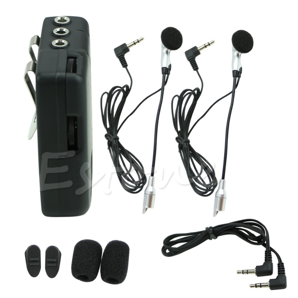 1 Set Motorbike Motorcycle Helmet 2-way Intercom Headset Communication System New