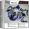 Carenagem completa Kit Para Yamaha R6 08-14 Anos Movistar Cor VR46 projeto Plástico ABS Carenagem 09 10 11 12 13 Blue & branco