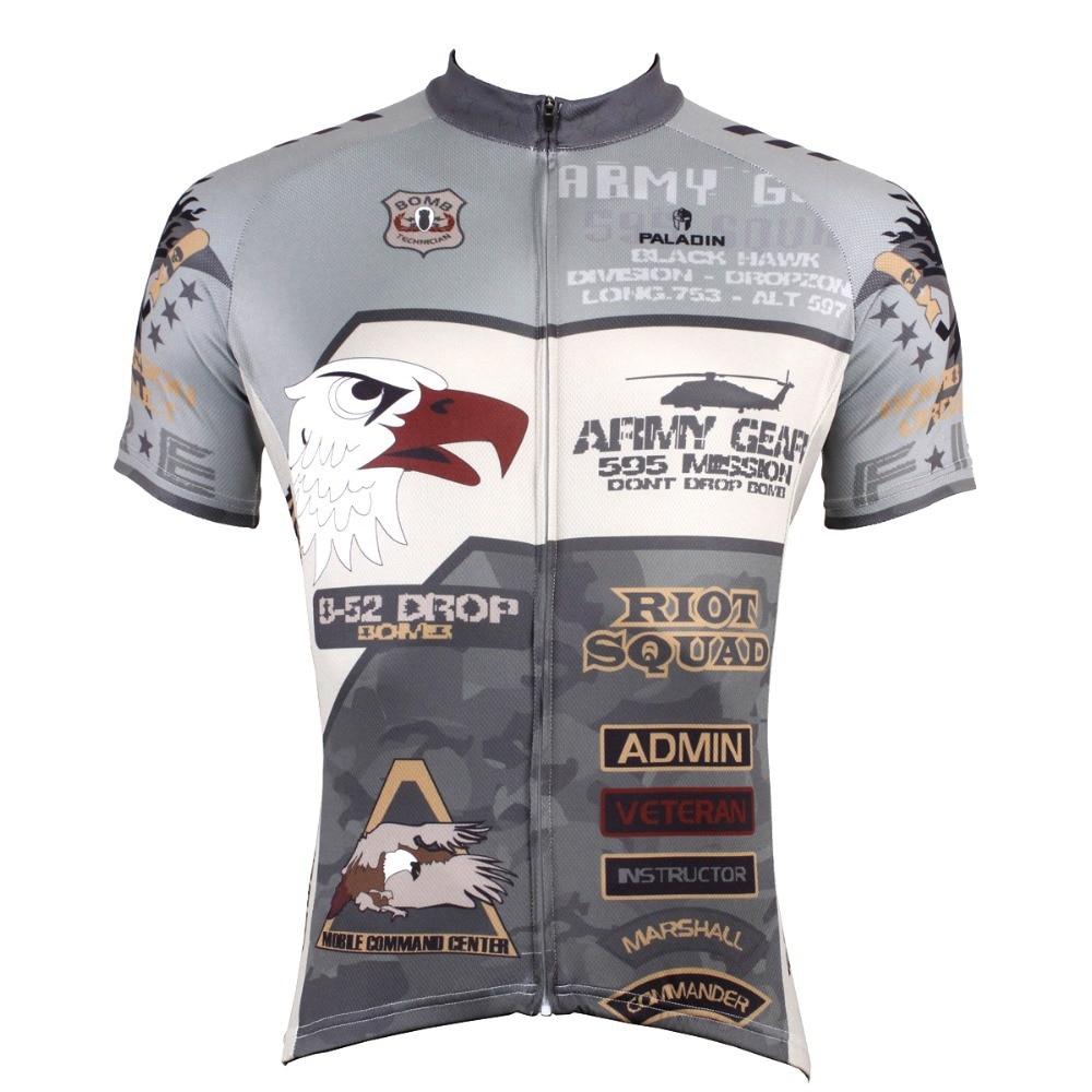 """PALADIN """"Army"""" Pánské Cyklistické dresy s krátkým rukávem, Cyklistické oděvy"""