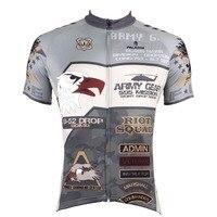 PALADIN Army Mens Short Sleeve Cycling Jersey Bike Shirt Cycling Clothing