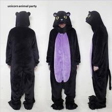Adult Onesie Black Cat Pajamas Midnight Sleepwear Cosplay Costume Unisex Cartoon Sleepsuit