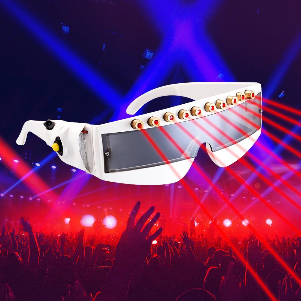 1 pièces stade Laser lunettes 10 mw 635nm rouge Laser Protection lunettes scène DJ KTV fête lunettes pour noël événement et fête fournitures