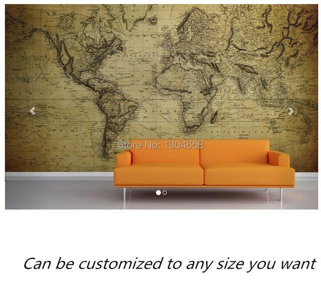 Freies Verschiffen Benutzerdefinierte 3D Antikes Alter Map Wall Moderne  Wandbild Fernseher Sofa Schlafzimmer Wand Tapete